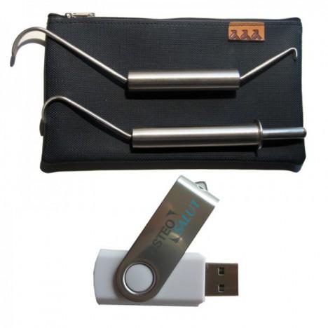 Ganchos de Fibrólisis Diacutánea + USB Informativo + estuche (dos ganchos)