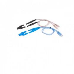 Cable - adaptador para la conexión entre un conector hembra de 4 mm y macho de 2 mm - Compatible con Diacare 7000
