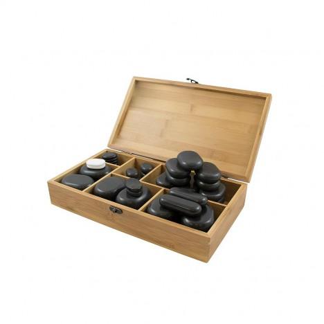 Piedras calientes de basalto Breathe: Ideales para masajes y terapias