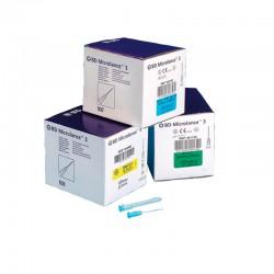 Agujas hipodérmicas BD de bisel triple (caja de 100 unidades)
