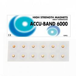 Imán Accu-Band Chapado en Oro 6000 gauss: Diámetro 5mm (12 unidades)