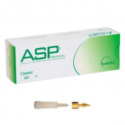 Chincheta de auriculoterapia semipermanente ASP bañada en oro