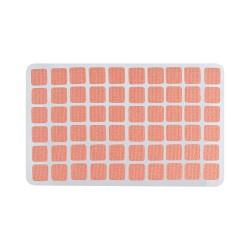 Adhesivo para chinchetas textil cuadrado 7 x 7 mm