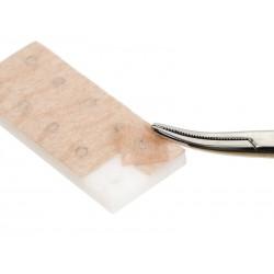 Chincheta de auriculoterapia de acero con doble adhesivo textil 0.2 x 0,9mm