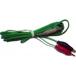 Cable verde con pinzas tipo cocodrilo 3,5cm
