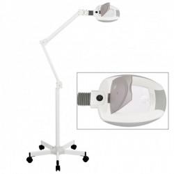 Lámpara lupa LED de luz fría Ampli con punto focal de cinco aumentos (base rodable)