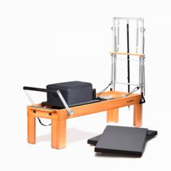 Reformer Physio de madera: Ideal para clases personalizadas y clínicas de fisioterapia (Colores de tapicería disponibles)