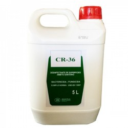 Desinfectante instantáneo CR-36 Advance (no diluible): de amplio espectro bactericida, fungicida y viricida (5 litros)
