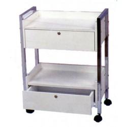 Mesa 2 estantes y 2 cajones
