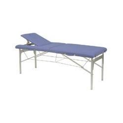 Camilla plegable de patas de aluminio 70x182 Azul